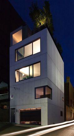 Multi Level Small House Project Built on Tiny Corner Lot in Sydney, Australia