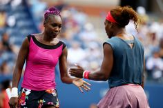 World #1 Serena & former #1 & sister Venus advance to the 3rd round after winning their doubles 2nd round match v #7-Seeds Raquel Kops-Jones & Abigail Spears 6-4, 6-4. Day Six of the 2013 US Open at USTA Billie Jean King National Tennis Center on August 31, 2013 in the Flushing neighborhood of the Queens borough of New York City. #TeamWilliams