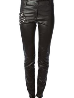 Shop women's designer skinny pants online now at Farfetch. Find women's skinny leg pants from hundreds of luxury brands. Skinny Pants, Skinny Legs, Leather Trousers, Me As A Girlfriend, Designing Women, Vegan Leather, Versace, Womens Fashion, Fashion 2015