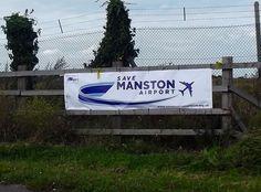 Save Manston Airport Logo on banner - Closer View