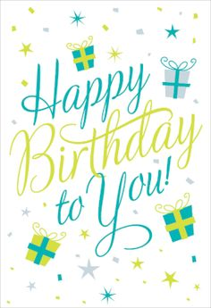 """Happy Birthday to You"" printable card. Customize, add text and photos. Print for free!"