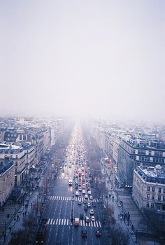 Untitled (view from the arc de triomphe) // Michelle Fleming
