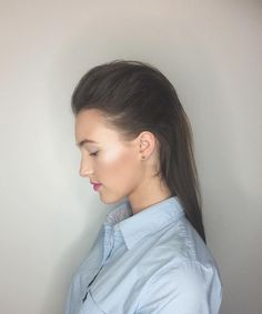 Fashion Show Hair slick back