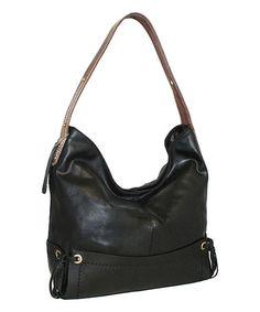 Look at this #zulilyfind! Black Pow Wow Leather Hobo #zulilyfinds