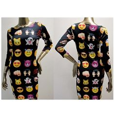 Emoji Funny Faces Long Sleeve Mini Dress ($25) ❤ liked on Polyvore featuring dresses, grey, women's clothing, long sleeve dresses, short dresses, grey long sleeve dress, longsleeve dress and gray dress