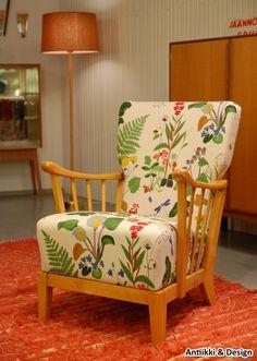 "Ilmari Lappalainen, ""Armi"" - Antiikki & Design - AntiikkiShop Maya, Accent Chairs, Armchair, Interiors, Furniture, Vintage, Color, Design, Home Decor"