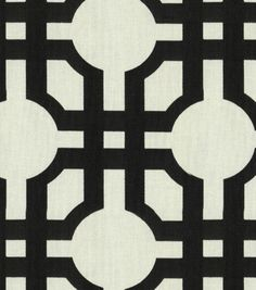 Waverly Modern Essentials Fabric-Groovy Grill / Licorice