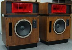Altec Lansing Model 19 Speakers Here are a pair of Altec Model 19 speaker cabinets brought in by one of our customers for refinishing. Diy Speakers, Stereo Speakers, Altec Lansing, Human Soul, Hifi Audio, Loudspeaker, Audio Equipment, Audiophile, Horn