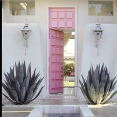 chic pink doors detail via dahliasday