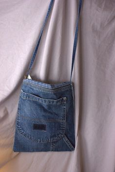 Recycled Denim Jeans Pocket Purse by EileenAndAlanna on Etsy, $8.50