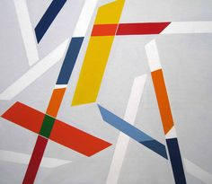 Signes dans l'Espace II Oil on Canvas: 180 x 200 cm Signed and Dated 1981 - 1982