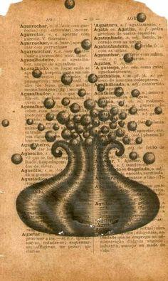 S/ título (da série flutuantes).               Grafite sobre dicionário.                       17 x 11,5 cm.                                           2010                                                          palavras-chave: taxonomia, botânica, arte contemporânea, círculo, infinito, dobra, mônada