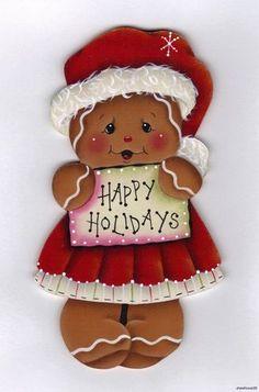"HP Gingerbread ""Happy Holidays"" Fridge Magnet   eBay"