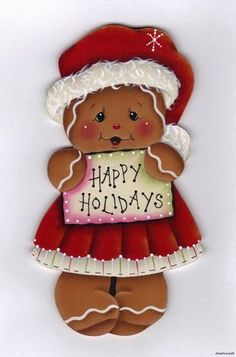 "HP Gingerbread ""Happy Holidays"" Fridge Magnet 