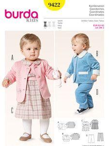burda style: Schnitte Katalog - Kids - Baby - Jacke – Kleid – Gummizughose
