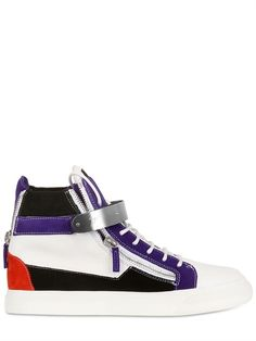 GIUSEPPE ZANOTTI - SNEAKERS ALTE IN PELLE - LUISAVIAROMA - LUXURY SHOPPING WORLDWIDE SHIPPING - FLORENCE