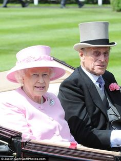 The Queen and Prince Philip arriving at Royal Ascot on Day Two of the event, June 20, 2012.