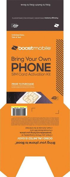 Boost Mobile - Tri-branded SIM Card Activation Kit