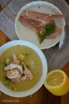 Kartoffel-Meerrettich-Suppe mit Räucherforelle auf www.katharinakocht.com