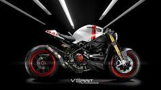 Ducati Monster custom Cafe Racer