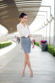 Textured :: Knit skirt