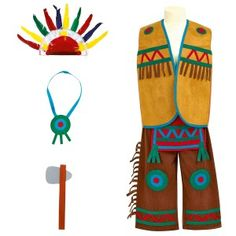 Déguisement Indien 3-5 ans Indian Costume Kids, Indian Costumes, Pow Wow Party, Tribal Makeup, Red Indian, Southwestern Decorating, Halloween Disfraces, Inspiration For Kids, Thanksgiving Crafts
