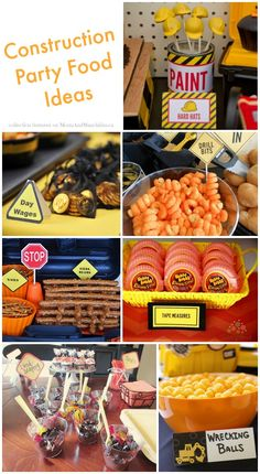 Construction Party Food Ideas #ConstructionParty