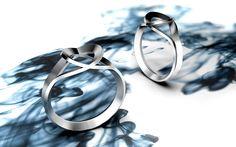 """bague série """"silver ink"""" - impression 3D argent par Jocelyn Deris"""