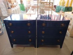 Pair of BLUE Chests for the Guest Room:)