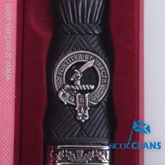 Elliot Clan Crest Sgian Dubh. worldwide shipping available.