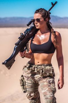 Image may contain: 2 people, people standing, sky and outdoor - Girls with Guns - Women in Uniform Mädchen In Uniform, Photographie Indie, Military Girl, Girls Uniforms, Female Soldier, Army Soldier, Military Women, Military Female, Warrior Girl