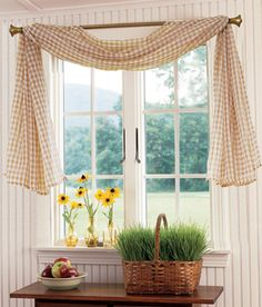 I know there's nothing to this, but I like this for curtains (the way they're hung).