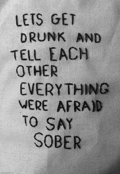 Imagem de drunk, quote, and sober