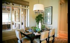 love the shade, love everything about this space! Wall Accessories, Framed Fabric, Dining Rooms, Houzz, Windows, Space, Baby, Ideas, Framing Fabric