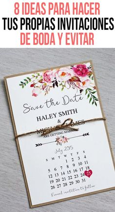 If you want to save a little on your wedding invitations, here are several ideas to make them much cheaper without having to stop being beautiful. Check out these tips with which you can transform from a simple invitation to a fabulous one. Wedding Tips, Wedding Cards, Wedding Favors, Our Wedding, Dream Wedding, Wedding Decorations, Make Your Own Wedding Invitations, Civil Wedding, Ideas Para Fiestas