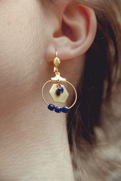 boucles d'oreilles hexagones bijoux par Cestbonpourcquetas sur Etsy