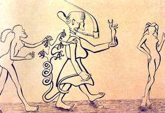 Velha Bruxa / 1960 / Nanquim sobre papel pardo / 0,335x0,525 m:imagem 2