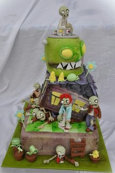 Zombie Birthday Parties, Boy Birthday, P Vs Z, Ideas Para Fiestas, Awesome Cakes, Party Themes, Food And Drink, Christmas Ornaments, Halloween