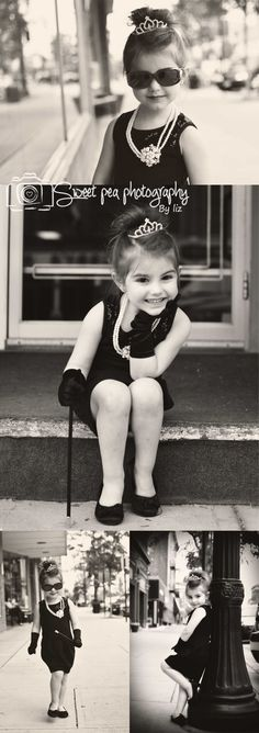 Breakfast at Tiffany's. Audrey Hepburn inspired children's photography. Sweet Pea Photography, Norwalk, OH