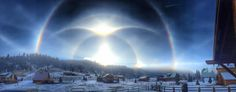 Ice halo phenomena in Red River, New Mexico on 2015-01-10. (Credit: Joshua Thomas) This is absolutely stunning.