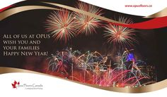All of us at OPUS wish you and your families Happy New Year!