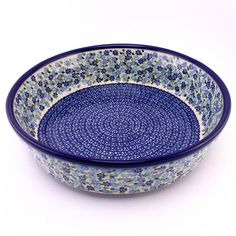 This awesome blue pattern is the best in round shapes just as bowls and bakers! #PolishPottery from http://slavicapottery.com