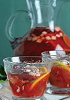 Sparkling Sangria Punch -- Tropical Punch KOOL-AID is the perfect starter for this refreshing Spanish-inspired drink recipe flavored with fresh fruits and juice.