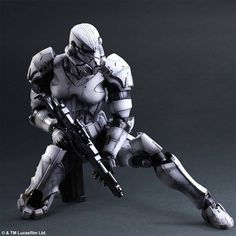 Square Enix, the Japanese video game publisher behind the Final Fantasy series, has developed a range of Star Wars toys. Darth Vader, Boba Fett, and the generic Imperial stormtrooper have all been. Star Wars Stormtrooper, Stormtrooper Action Figure, Imperial Stormtrooper, Darth Vader, Star Wars Boba Fett, Star Wars Film, Rpg Star Wars, Star Wars Toys, Star Wars Art