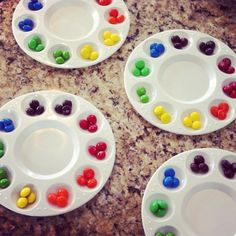 """Art Party :: Color Wheel Cupcake """"Palettes"""" with a cupcake in the middle... DUDE."""