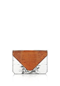 ALEXANDER WANG // PRISMA ENVELOPE CLUTCH IN EMBOSSED TRICOLOR WITH RHODIUM