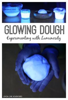 Glowing Dough Experiment! WOW! What a cool science experiment to try with my kids! Great for Halloween!