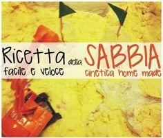 MiniFactory: Sabbia cinetica - Sabbia cinetica made in LaMiniFactory - Ricetta veloce ed edibile per bambini di ogni etá Edible Sand for kids & toddlers