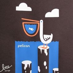 were willing to bet that pelican is the only screen print on etsy that prominently features bird poop. pelican is a limited edition handmade screen