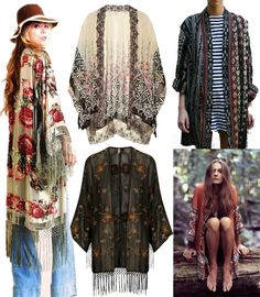 BOHO KIMONOS. I think I'm going to have to get one of these as a staple to my wardrobe. Will help a lot towards being modest and they are lightweight material which is great for summer.